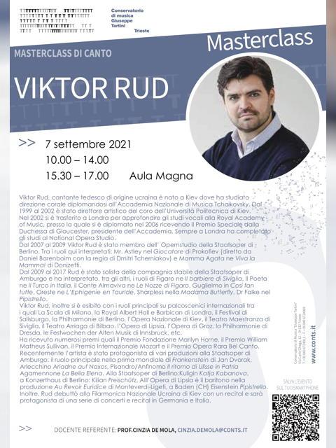 Masterclass di canto - Viktor Rud