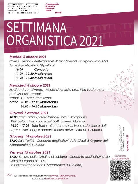 SETTIMANA ORGANISTICA 2021