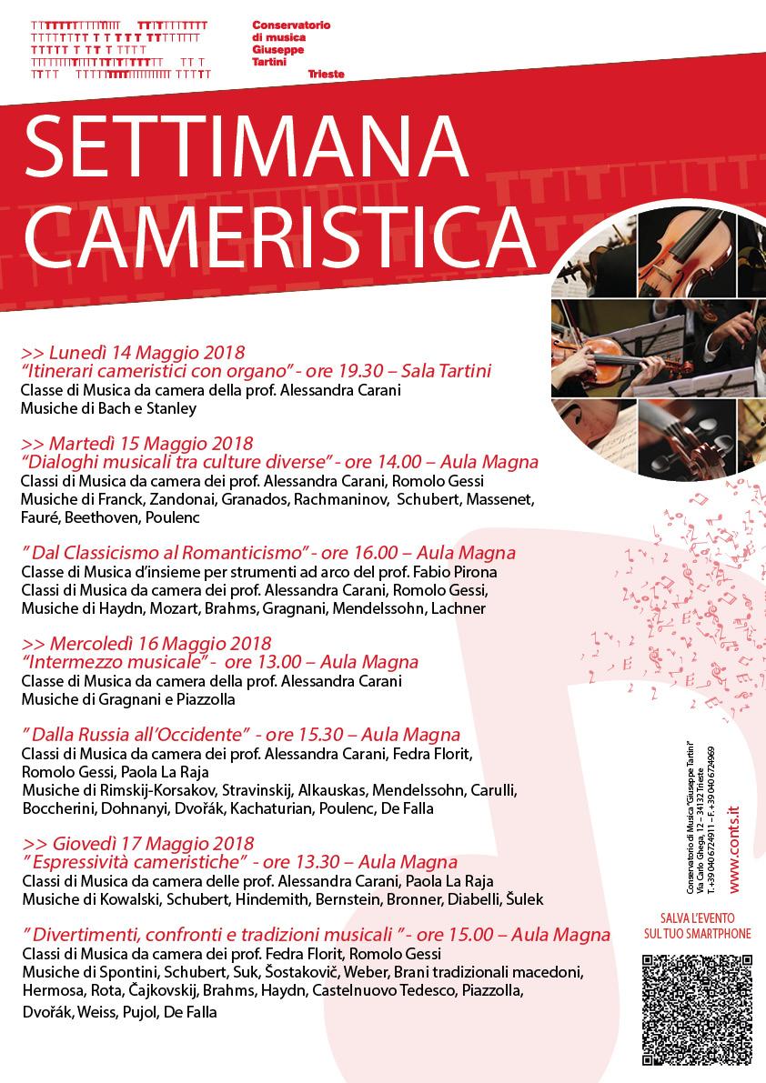 Settimana cameristica al Conservatorio Tartini