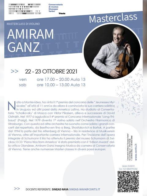 Masterclass di VIOLINO - Amiram Ganz