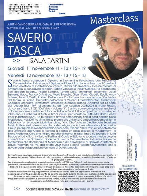 Masterclass di Percussioni - Saverio Tasca