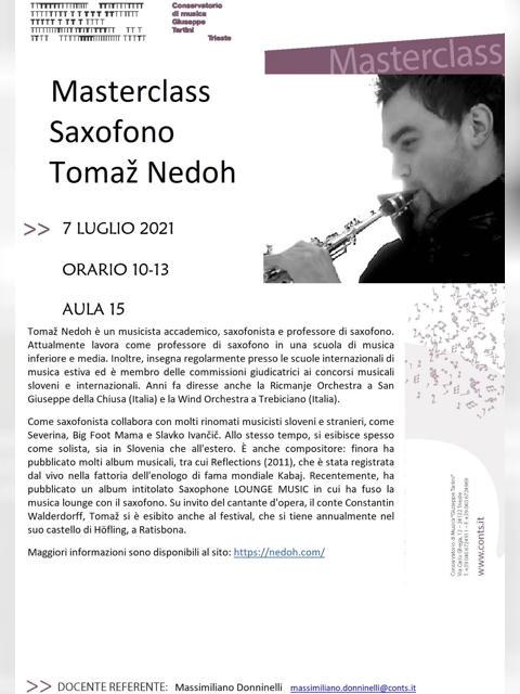Masterclass Saxofono - Tomaž Nedoh
